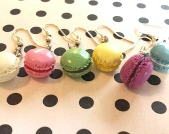 Pastel French Macaron Earring Set