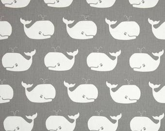 Whale Tales Storm/White Twill – Premier Prints   Fabric By The Yard   Nautical Fabric   Gray Nautical Fabric   Made in the USA fabric