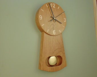 Cherry Pendulum Clock- Made to Order