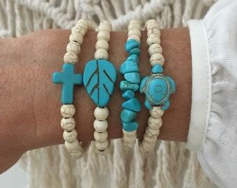 SALE beach bracelet, beachcomber bohemian jewelry