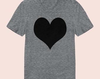 Heart -  Women's Slim Fit TShirt, Graphic Tee, American Apparel, Short Sleeve Shirt, T Shirt