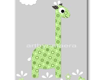 Giraffe Nursery Print Printable Wall Art Baby Nursery Decor Printable Decor Baby Boy Nursery Art Digital Print 8x10 11X14 INSTANT DOWNLOAD