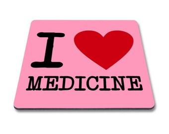 Medical magnet, i love medicine, magnet for, medical students, doctors, nurses, nursing students, physician assistants, surgeons, gift