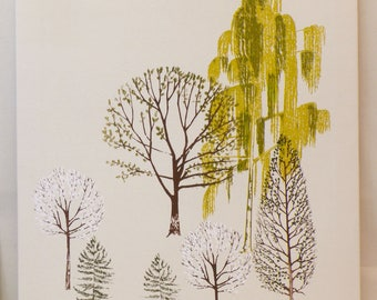 Spring trees canvas