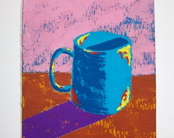 """The Morning Cup of Coffee #84 (ARTIST TRADING CARDS) 2.5"""" x 3.5"""" by Mike Kraus"""