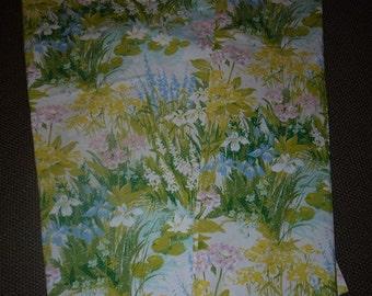Summer Flowers - Fabric - 2 curtain lengths - Pastel -  Scandinavia - Sweden - Swedish Design