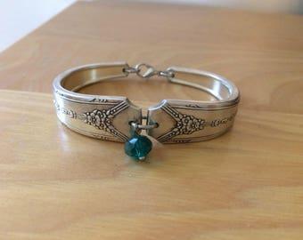 Milady silverplated spoon bracelet