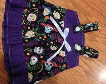 Sugar Skulls Purple Baby Infant Toddler Girls Dress  You Pick Size