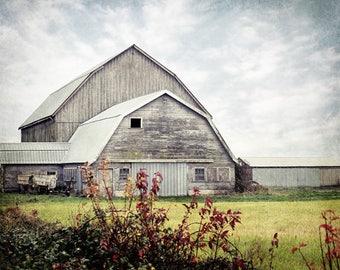 Barn Print, Rustic Farmhouse Decor, Barn Art, Country Photo, Country Print, Old Barn Picture, Fixer Upper Decor, Rustic Cabin Decor