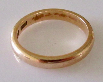 9ct Gold Wedding Ring Band