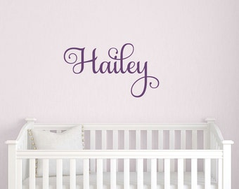 Children Name Decal - Vinyl Wall Decal - Baby Children Boy Girl - Personalized