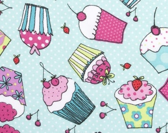 Cupcakes & Dots Cotton Fabric by the half yard and by the yard