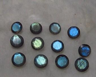 10 pieces 6mm Labradorite Round Faceted Gemstone, Labradorite Faceted Round Gemstone, Faceted Gemstone Labradorite 6mm Round Brilliant Cut