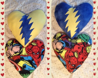 CUSTOM Made To Order... LoVe Stuffins... Steal Your Heart - Stole My Heart... Grateful Dead - Throw PiLLoW SET... Handmade -