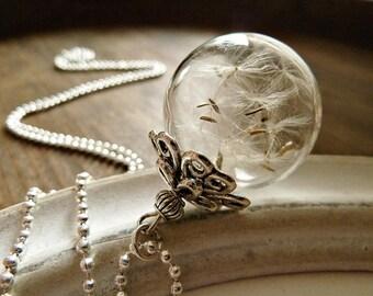XL Genuine Dandelion Necklace