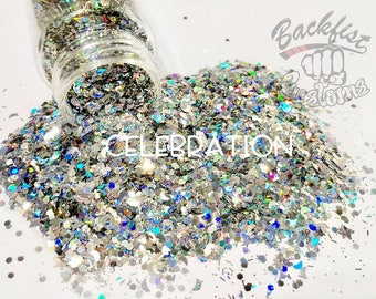 CELEBRATION || Opaque Chunky Glitter Mix, Solvent Resistant
