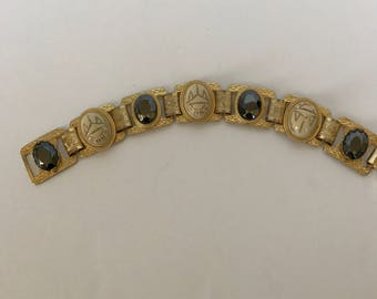 Egyptian style vintage bracelet with Scarabs