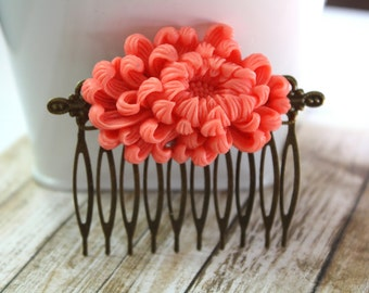 Flower Hair Accessory, Bridal Hair Comb, Collage Hair Comb, Bridesmaid Gift, Wedding Accessory