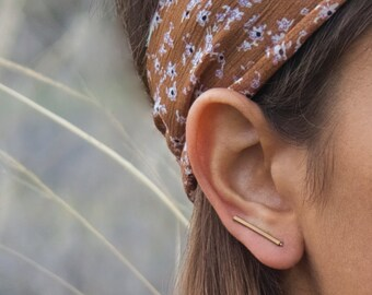 Ear Climbers, Bar Ear Climbers, Gold Ear Climbers, Silver Ear Climbers, Ear Sweeps, Ear Crawlers, Earrings Pins, Copper Studs, Copper Bar