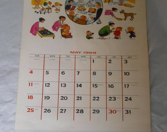 The Family Circus Calendar 1969 Christmas Giveaway from the Des Moines Register
