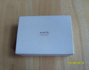 Ming's Honolulu Box, Ming's Paper Box, Jewelry Box, Ming's Hawaii