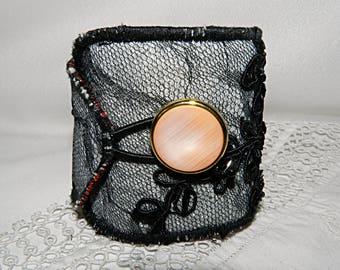 Black lace adjustable cuff