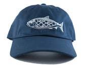 Salmon Dad Hat - Navy - U...