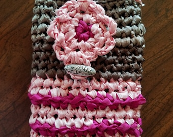 Pink Cell Phone Cozie, Pink I Phone Cozie, Pink Purse Pouch Bag, Cell Phone Pouches, Pink Phone Case, Brown Phone Cozie, Fuscia Phone Cases