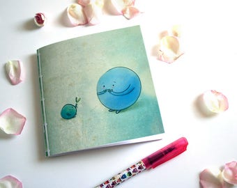 The green gift - Square illustrated notebook