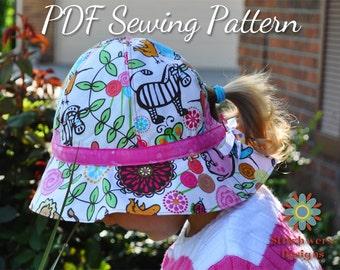 Garden Hat, PDF Sewing Pattern, Sun Hat Pattern, Baby Hat Pattern, Girl Hat Pattern, Womens Hat Pattern, Hat Sewing Pattern, Gardening Hat