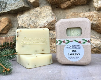 Pine Barrens Handcrafted Soap - Pine Soap - Gift For Men - Vegan Soap - Soap - NJ Gift - Masculine Soap - Cold Process Soap -