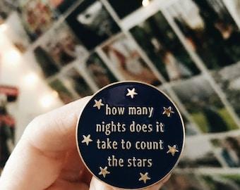 Enamel Pins - Lyrics, Lyric Art, Song Lyric Art, Starry Sky, One Direction, Niall Horan, Harry Styles. Liam Payne, Wedding Gift, Lapel Pin