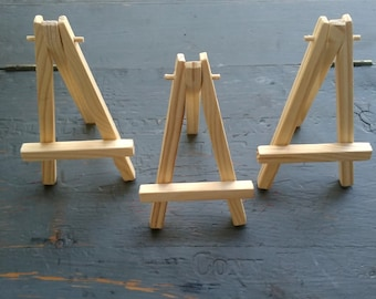 15 mini easels, mini wood easels, ACEO easel, mini art easel, CLEARANCE