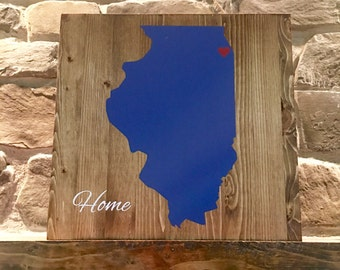Home Sign// State Sign// Wood Sign//Home Decor//Rustic State Sign//Rustic Home Sign//