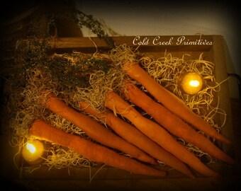 Primitive Faux Carrots Set of 6