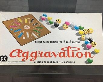 Vintage Deluxe Party Aggravation Game Rare Unique Version