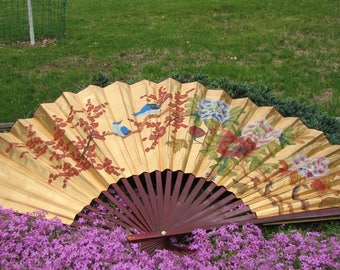 Chinese Wall Fan - Painting - Asian Wall Art - Hand Painted