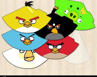 Angry Birds Printable Party Hats