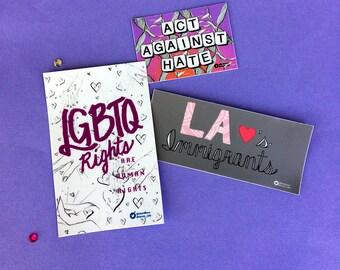 Pack de vinyle autocollant: LA coller ensemble contre la haine