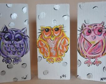Owls (set of 3)