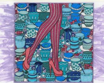 Art deco design heels