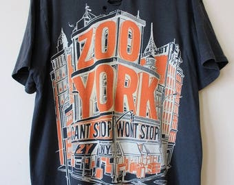 Distressed/ Shredded Zoo York T Shirt Large