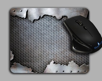Mouse pad,Cloth Top,Steampunk,Metal Grunge,mousepad,office decor,MP-104