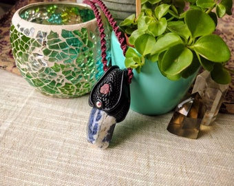 SALE! Sodalite pendant with Rhodochrosite (FREE SHIPPING!)