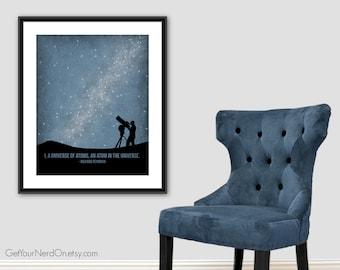 I A Universe Poster, Richard Feynman Art, Astronomy Gifts, Science Nursery Art