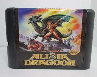 Alisia Dragoon fan made reproduction Sega Genesis Mega Drive repro