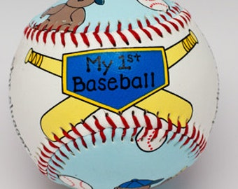 Babys First Baseball, Newborn Gift, Baby's birth information, Personalize Baby Gift, Baby Boy, Baby Shower (BB01)