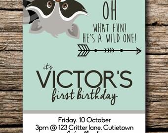Birthday Party Digital Invite - Cute Critters 2
