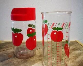 Sugar Bowl and Henkel decor measuring red apples