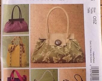 Sewing Pattern.  McCalls M4936. Handbags and purses.